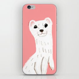 Naughty Stoat ( Mustela erminea) iPhone Skin