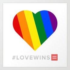 #LoveWins Art Print