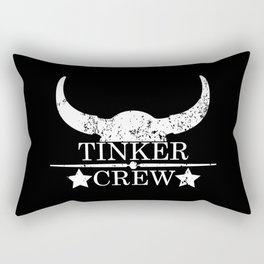 Tinker crew wild west emblem white Rectangular Pillow