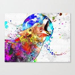 Coyote Grunge Canvas Print