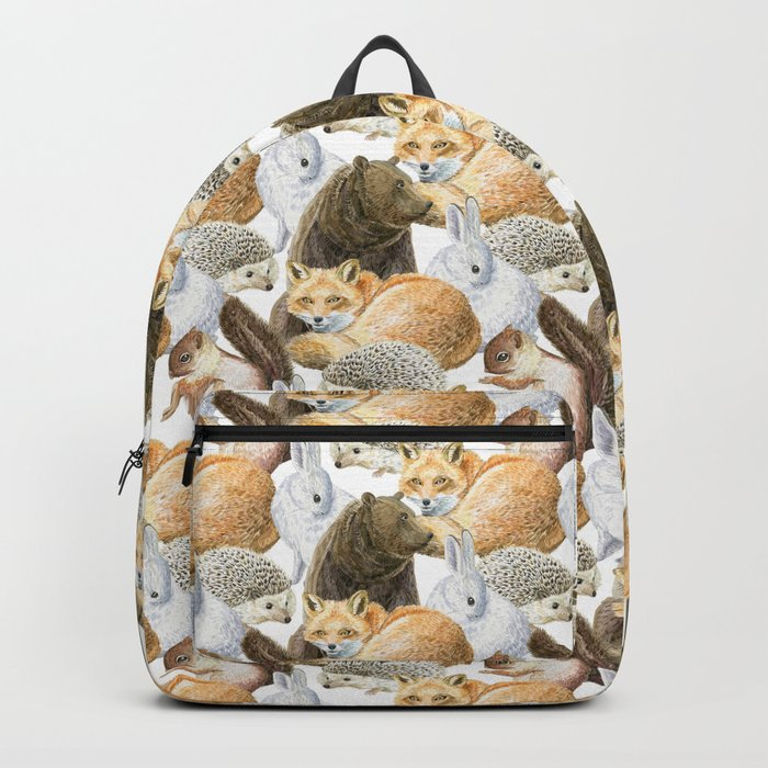 woodland animals pattern Backpack