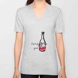 Don't Forget To Take Your Flu Shot Wine Bottle Unisex V-Neck