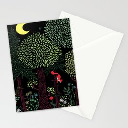 Into The Woods At Night Stationery Cards
