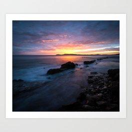 End of Day in the Cote d'Azur Art Print