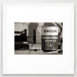 Old Sinclair Motor Oil Can Framed Art Print