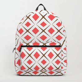 Chocolate Brown + Coral:  Pattern No.1 Backpack