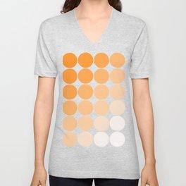 Orange Circle Color Charts Unisex V-Neck
