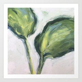 hosta leaves Art Print