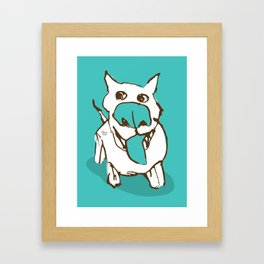 Citydog - turquise Framed Art Print
