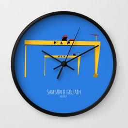 Samson & Goliath Wall Clock