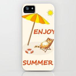 enjoy sunny summer iPhone Case