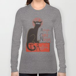 A French Ninja Cat (Le Chat Ninja) Long Sleeve T-shirt