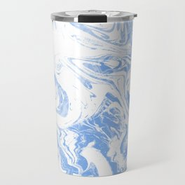Suminagashi japanese spilled ink watercolor painting minimalist abstract marble marbling Travel Mug
