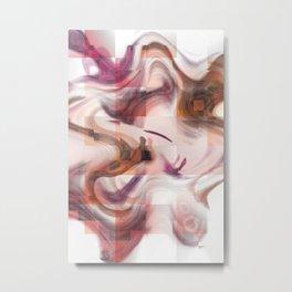 Wooden liquid Metal Print
