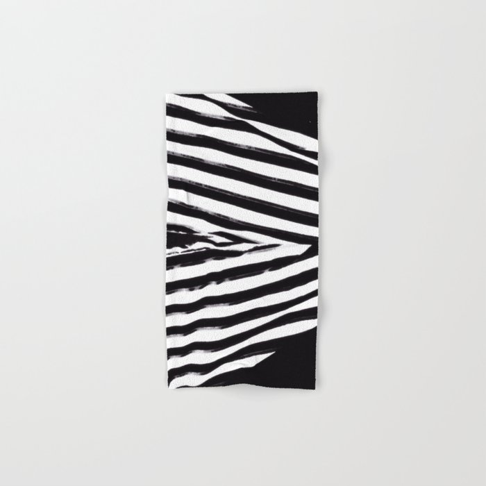 Black & White Stripes Hand & Bath Towel