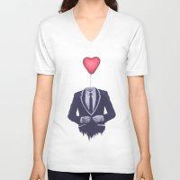 valentine V-neck T-shirts featuring Mr. Valentine by Davies Babies
