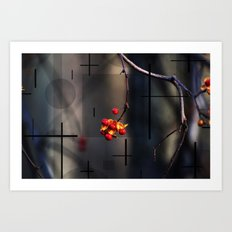 Berries And Mystical Shapes Art Print