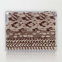 knit patchwork in sand Laptop & iPad Skin