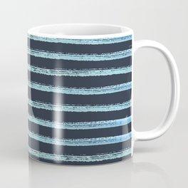 Blue Watercolor Lines Coffee Mug