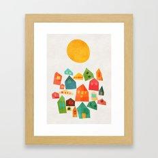 Looking at the same sun Framed Art Print