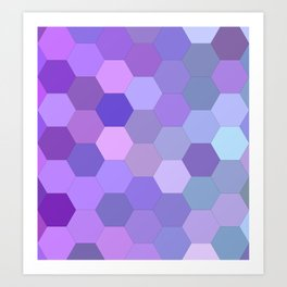 Pretty purpleness Art Print