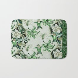 Ruby Throated Hummingbird in Flight Bath Mat