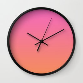 Pink to Orange Ombre Shaded Raspberry and Papaya Sorbet Ice Cream Gelato Wall Clock