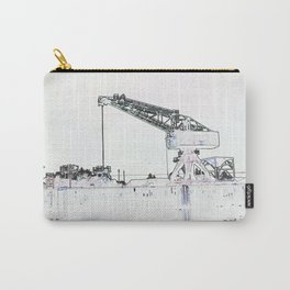 Canal Port Crane Drawing Carry-All Pouch