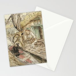 Arthur Rackham - The Wind in the Willows (1940) - Ratty and Mole by a Boat Stationery Cards