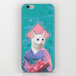 Geisha cat 02 iPhone Skin