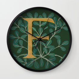 Forest Letter F 2018 Wall Clock