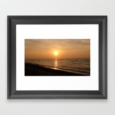 Gulf of Mexico Sunset Framed Art Print
