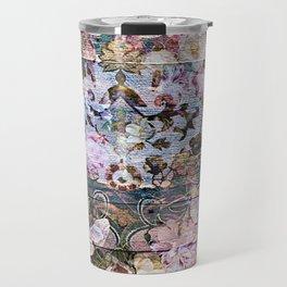 Shabby Chic floral rococo woodpanel Travel Mug