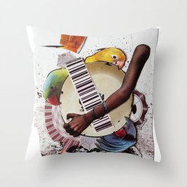 Birds of a feather | Collage Throw Pillow