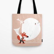 Fox and Whale Tote Bag
