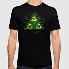 The Tribal Triforce MEDIUM Black Mens Fitted Tee