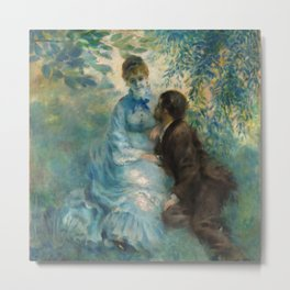 """Auguste Renoir """"Lovers"""" Metal Print"""