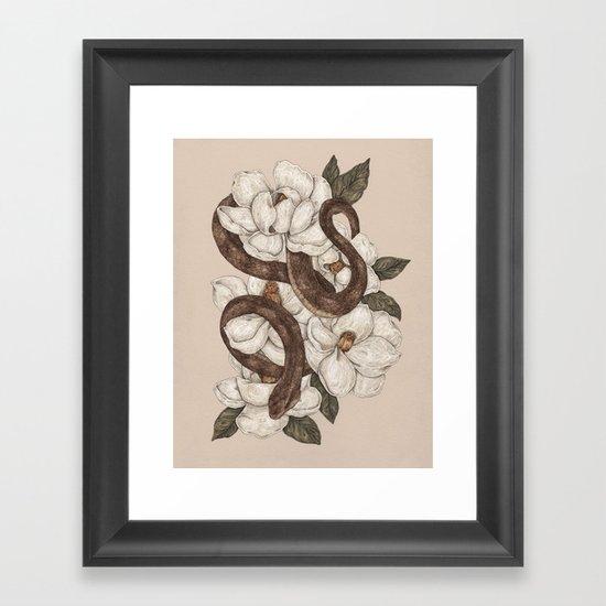 Snake and Magnolias by jessicaroux
