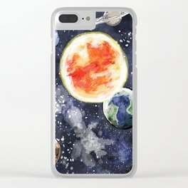 Solar system Clear iPhone Case