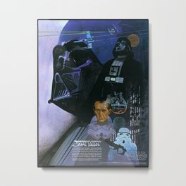 Star Darth Vader Wars Metal Print