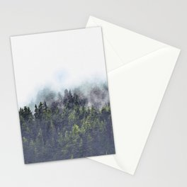 Foggy forest watercolor painting #4 Stationery Cards