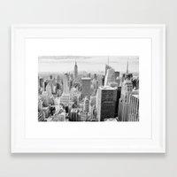manhattan Framed Art Prints featuring Manhattan by Sébastien BOUVIER