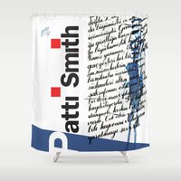 calligraphy Shower Curtains featuring Calligraphy 2 by omerfarukciftci