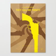 No431 My They Call Me Trinity minimal movie poster Canvas Print