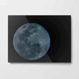 The moon view of South America (Brazil) - A lua vista da América do Sul Metal Print