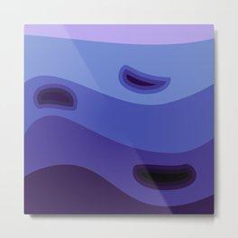 Shades of blue background #society6 #decor #buyart #artprint Metal Print
