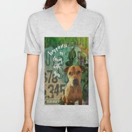 Shelagh Happiness Is Being With You Unisex V-Neck