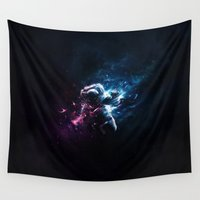 astronaut Wall Tapestries featuring Astronaut by Kevin Roodhorst