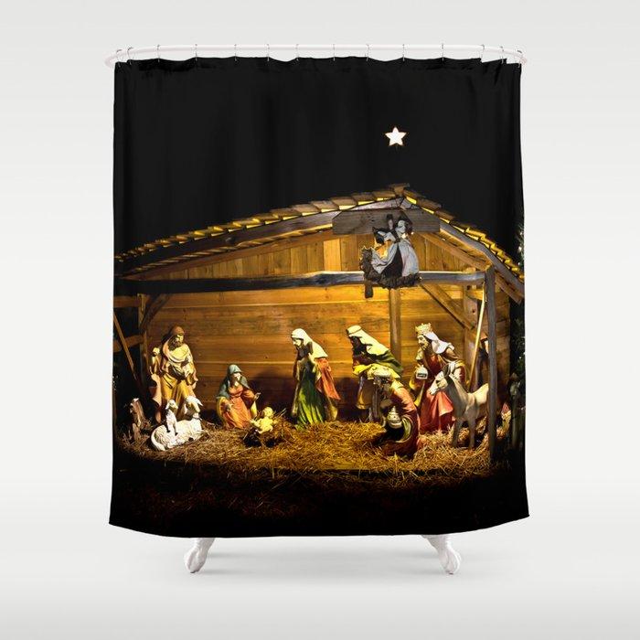 Nativity Shower Curtain By Jmccool