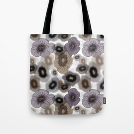 Brown-gray flowers Tote Bag